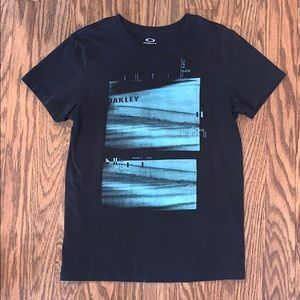 Men's Oakley Black Slim Fit Large Graphic Tee
